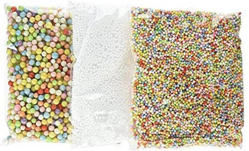 TOOGOOR TOOGOO(R) Slime Beads, Mini Foam Balls Household School Arts