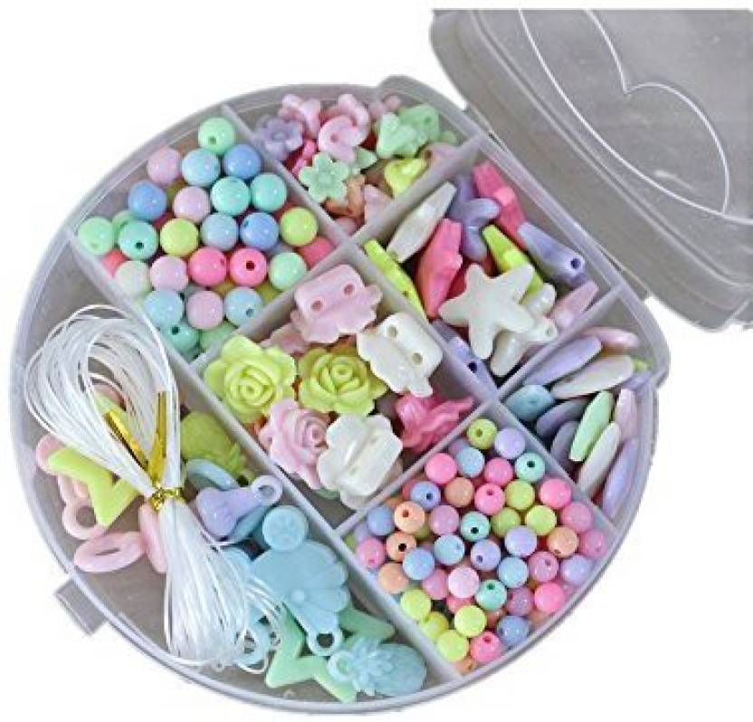 Elloapic 300 pcs Beads Maze Beading Supplies in a Cat Shape Box