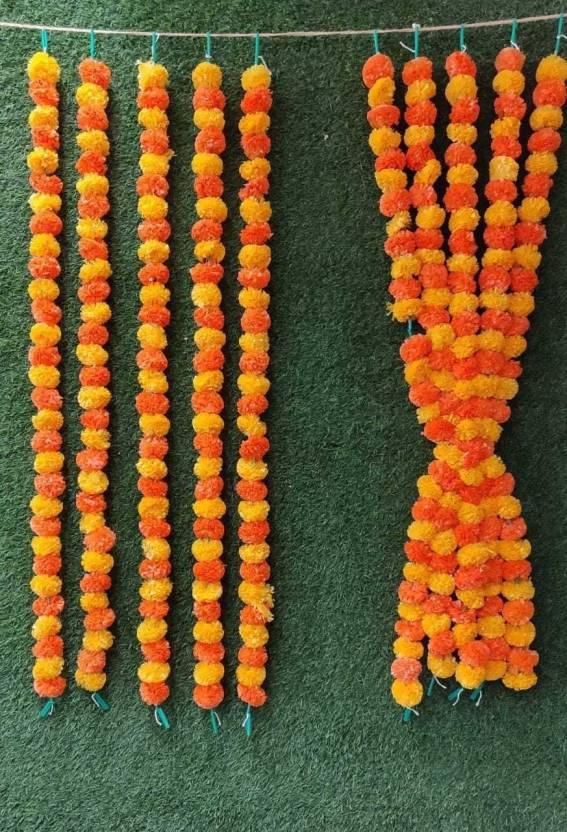 Satyam Kraft Genda Phool Flower Line For Decoration Home DecorWedding DecorFlower