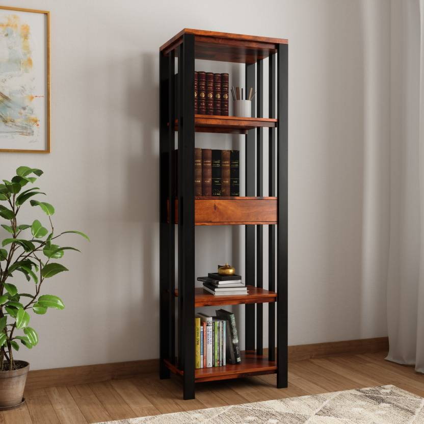 Wood Mania Solid Wood Open Book Shelf Price In India Buy Wood