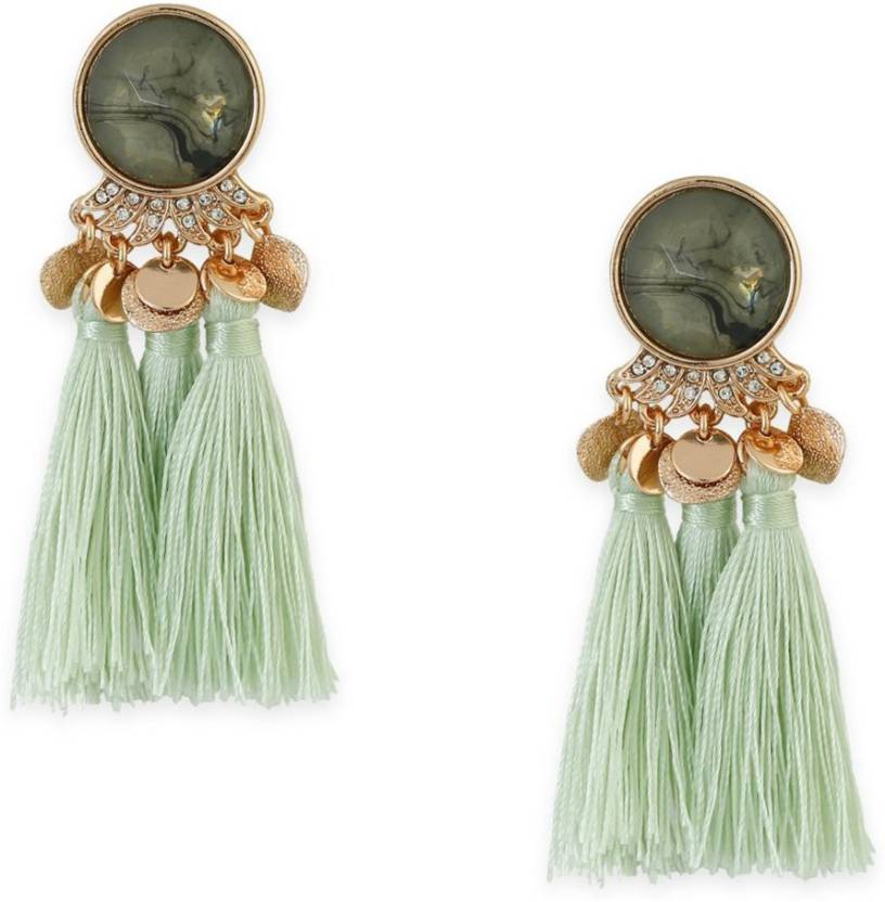 d4fea7545a96 Flipkart.com - Buy Bling Bag Bling Style Lush Statement Earrings Crystal  Alloy Dangle Earring Online at Best Prices in India