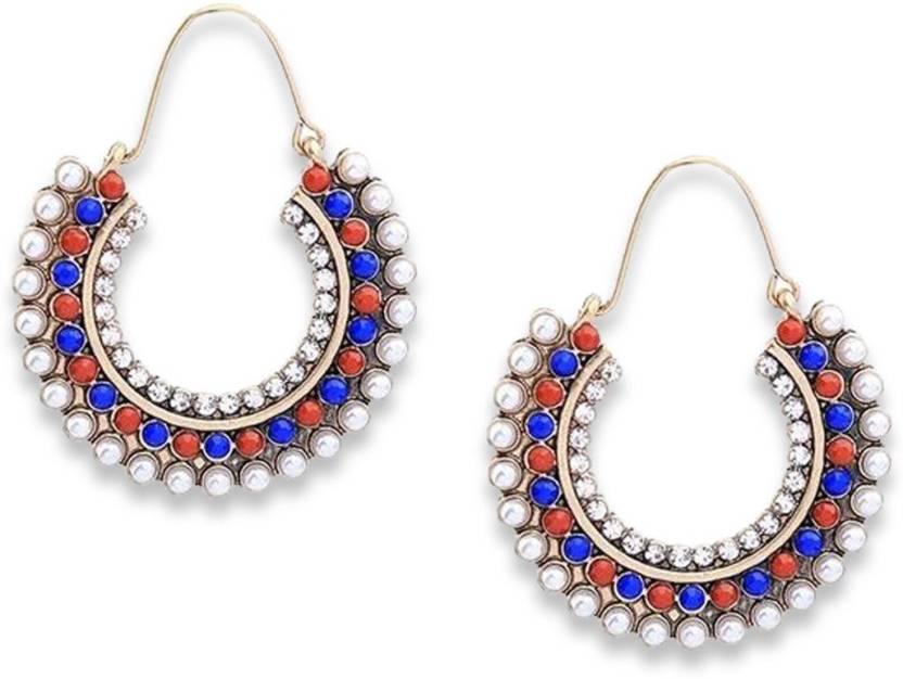 f9fc2148d276 Flipkart.com - Buy Bling Bag Bling Style Whitehall Hoop Earrings Crystal  Alloy Hoop Earring Online at Best Prices in India