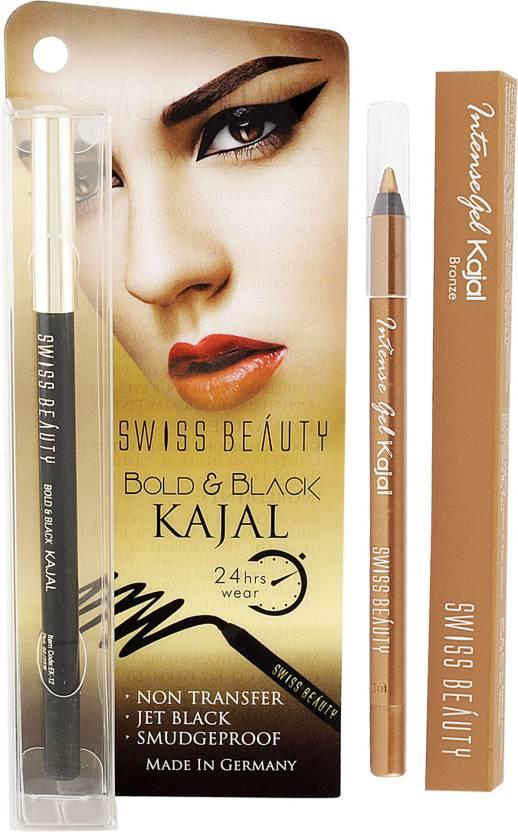 33e5ca86b12 Swiss Beauty Gel Kajal Pencil-Black   Bronze - Price in India, Buy ...