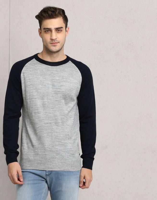 f8667ae8c8bb Metronaut Solid Round Neck Casual Men Multicolor Sweater - Buy ...