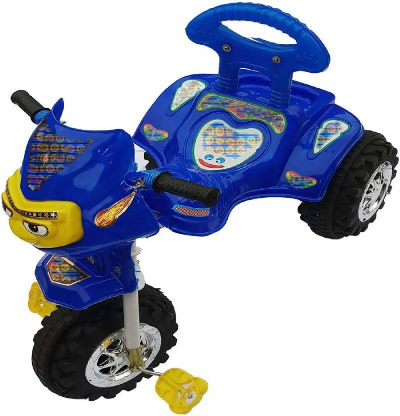 9dcf1db300b imtion High Rang Plastic Quality Tricycle Kids Used Color Blue With Fancy  Musical System Vice/Sound Tri-03 Tricycle (Blue)