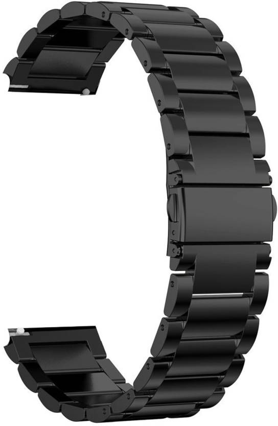 dac478a49 Taslar Metal Band Strap with Clips Adjuster for Samsung Galaxy Watch 46mm  2018 / Samsung Gear S3 22 mm Stainless Steel 3 Beds Watch Strap (Black)