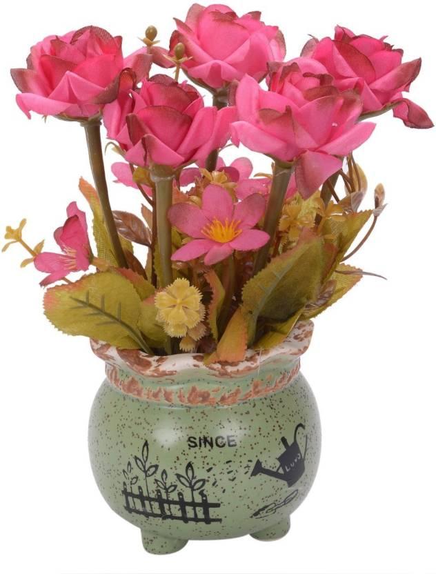 Scrafts Small Since Ceramic Base Artificialdryfaux Flowers