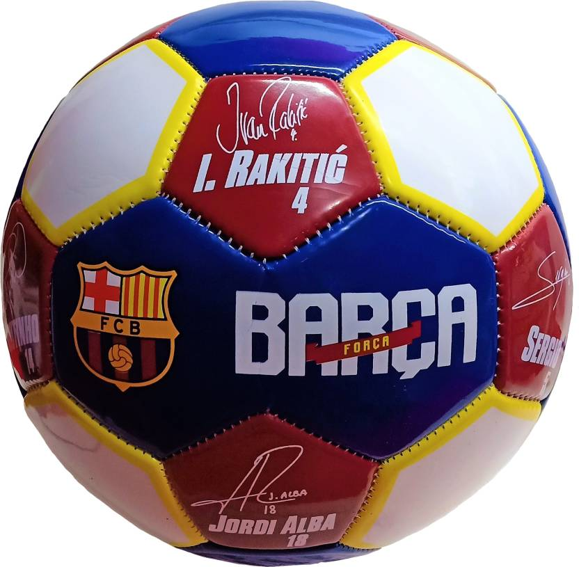 327cb570e4b Darling Toys FC Barcelona 8 Player Signature Premium Football - Size: 5 ( Pack of 1, Multicolor)