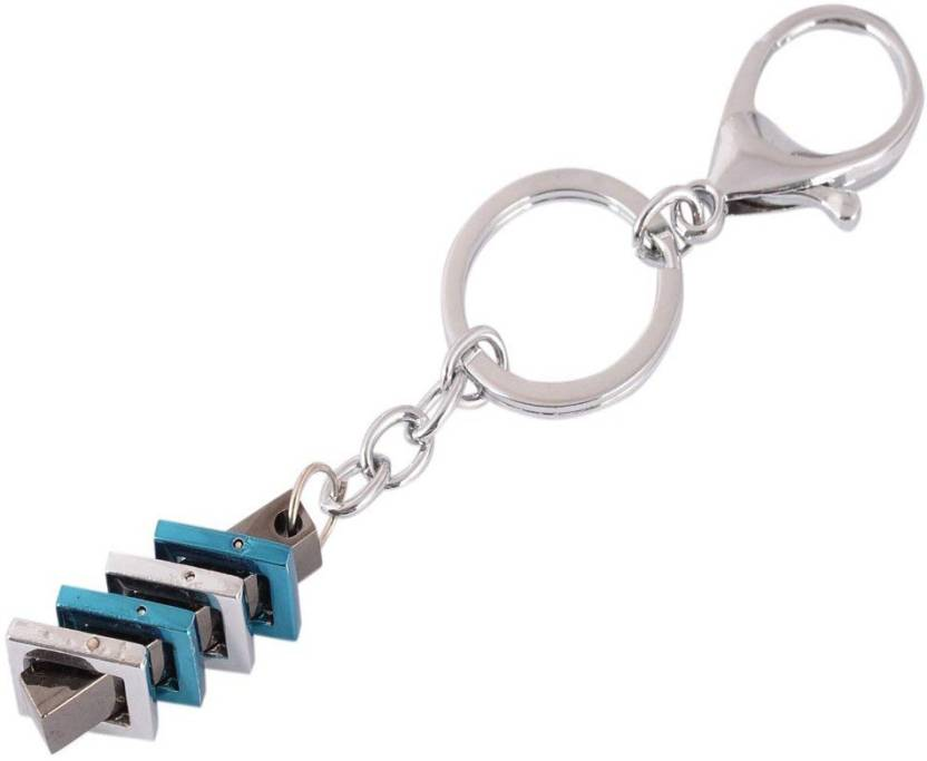 ef04c8fd08 Sanaa Creations Stainless Steel Silver Plated Multicolor Hook & Ring shape Keychains  Key Chain (Blue, Silver)