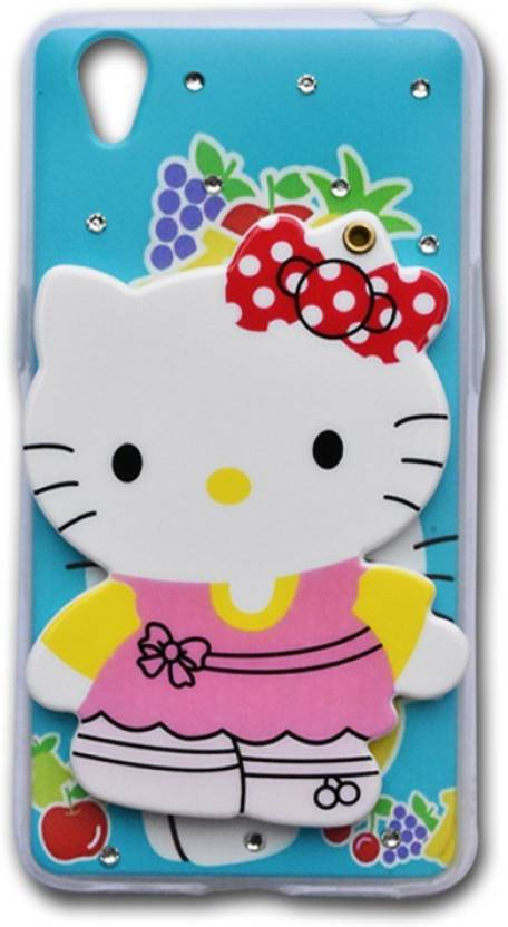 Marshland Back Cover for Oppo A37 Designer Case Hello Kitty With Diamond Studs & Hidden Mirror for Girls {Ml-7} (Multicolor, Waterproof, Flexible Case)