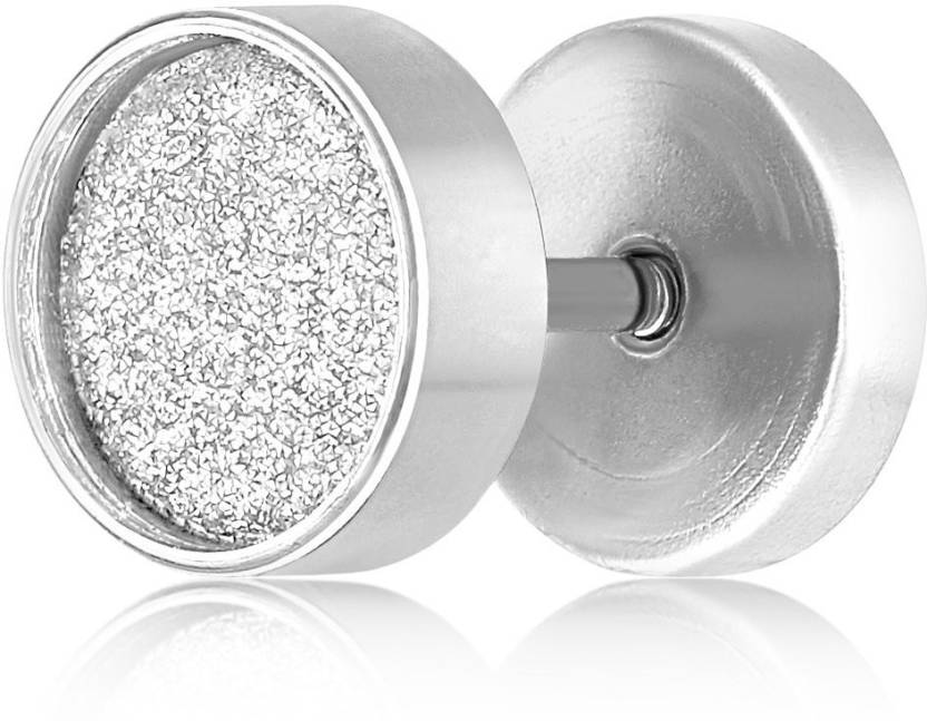 8482bbd7d Flipkart.com - Buy Asmitta Jewellery Shine Barbell Stud Silver Plated  Single Stud Earring For Unisex Stainless Steel Stud Earring Online at Best  Prices in ...