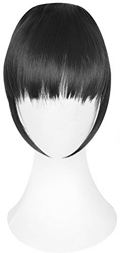 Majik Synthetic Pieces Front Clip In Fringe Extensions Black Hair