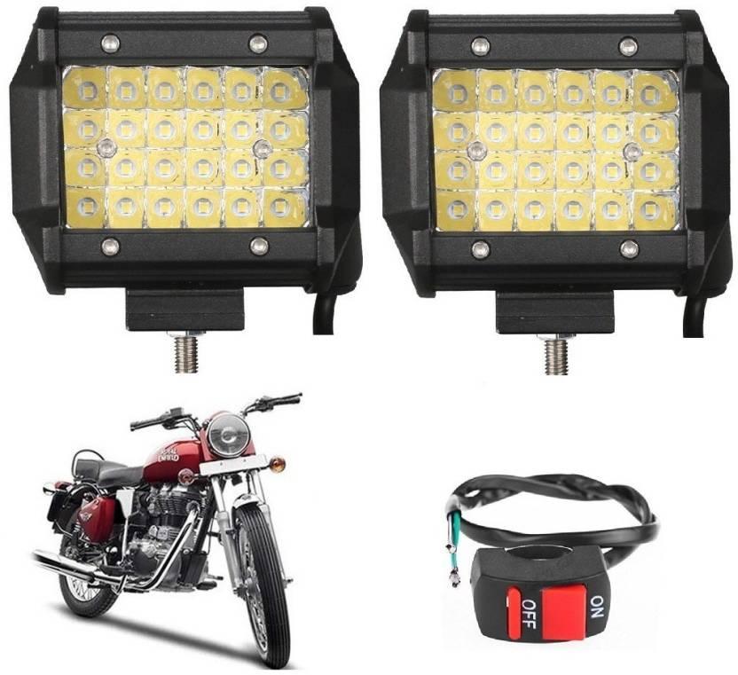 Bikers World LED Fog Light For Royal Enfield Yamaha Honda Suzuki Mahindra