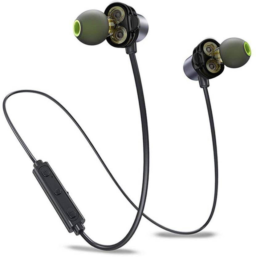 0b2bef4f8d0f51 Probus X690BL Dual Driver Wireless Bluetooth Earphone Pure Bass Bluetooth  Headset with Mic (Black, In the Ear)
