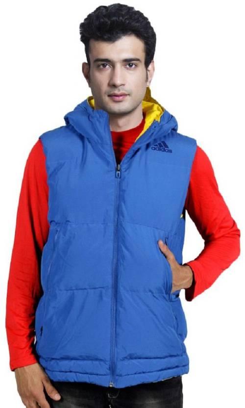 5d005c25b677 ADIDAS Half Sleeve Solid Men Jacket - Buy ADIDAS Half Sleeve Solid Men  Jacket Online at Best Prices in India