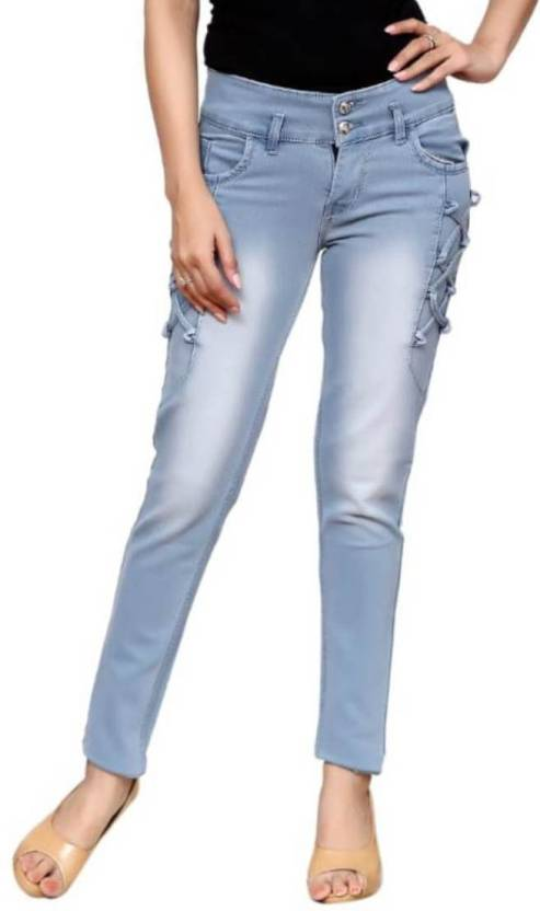 7507a1218abed Fellamo Slim Women Light Blue Jeans - Buy Fellamo Slim Women Light Blue  Jeans Online at Best Prices in India