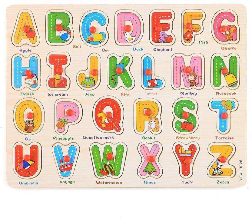 PS AAKRITI Elements Kids Early Learning Wooden Letters ABC