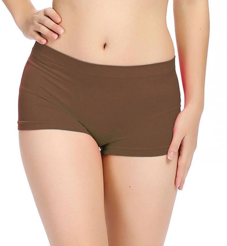 734dbf6af5f A To Z Cart Women's Boy Short Brown Panty - Buy A To Z Cart Women's ...