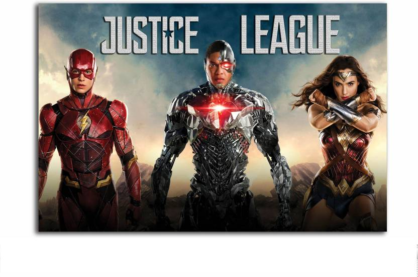 Hollywood Movie Poster Cyborg Wonder Woman The Flash Justice