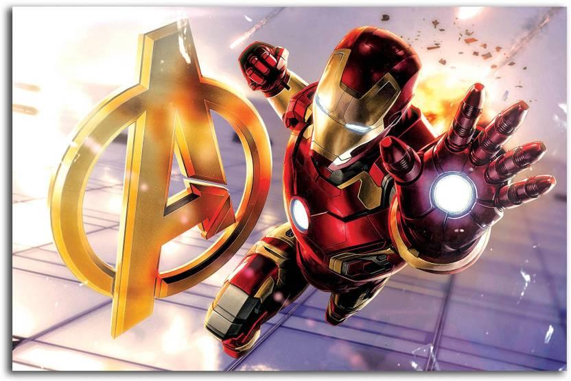Avengers Poster - Iron Man Symbol - Fan Art - Superheroes