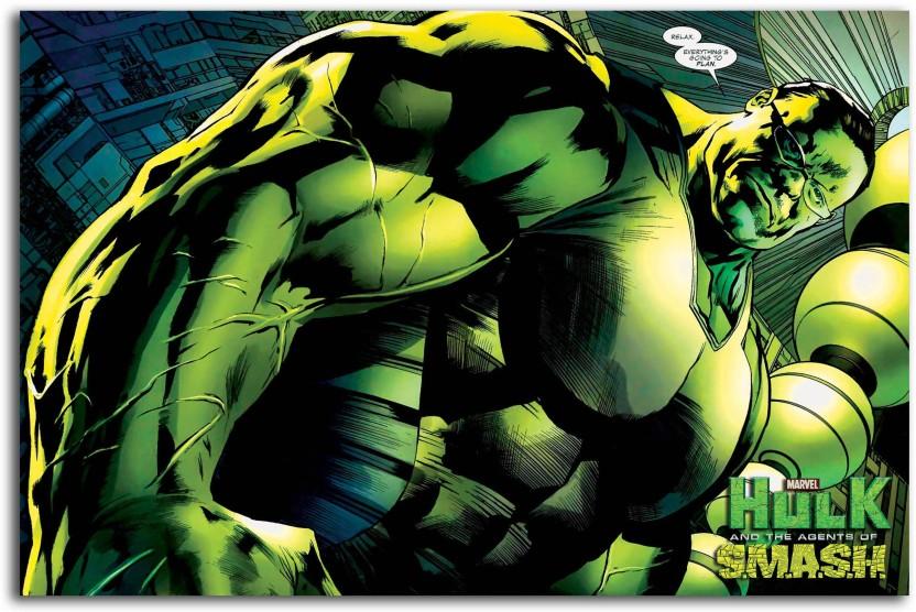 INCREDIBLE HULK COMICBOOK SUPERHERO LARGE ART GIANT POSTER PRINT IMAGE HUGE