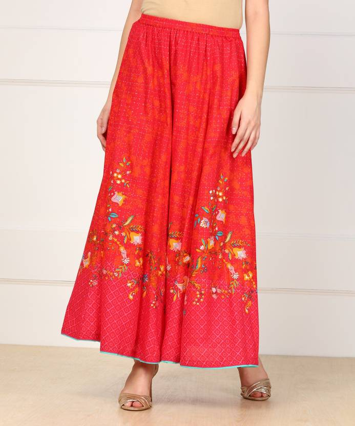 2dd23a186315 Biba Printed Women's Gathered Multicolor Skirt - Buy RED Biba Printed  Women's Gathered Multicolor Skirt Online at Best Prices in India |  Flipkart.com