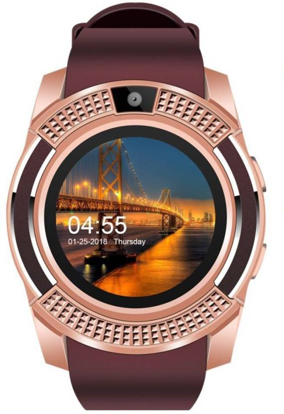 KEMIPRO V8 Bluetooth Smartwatch With Sim & Tf Card Support With Apps