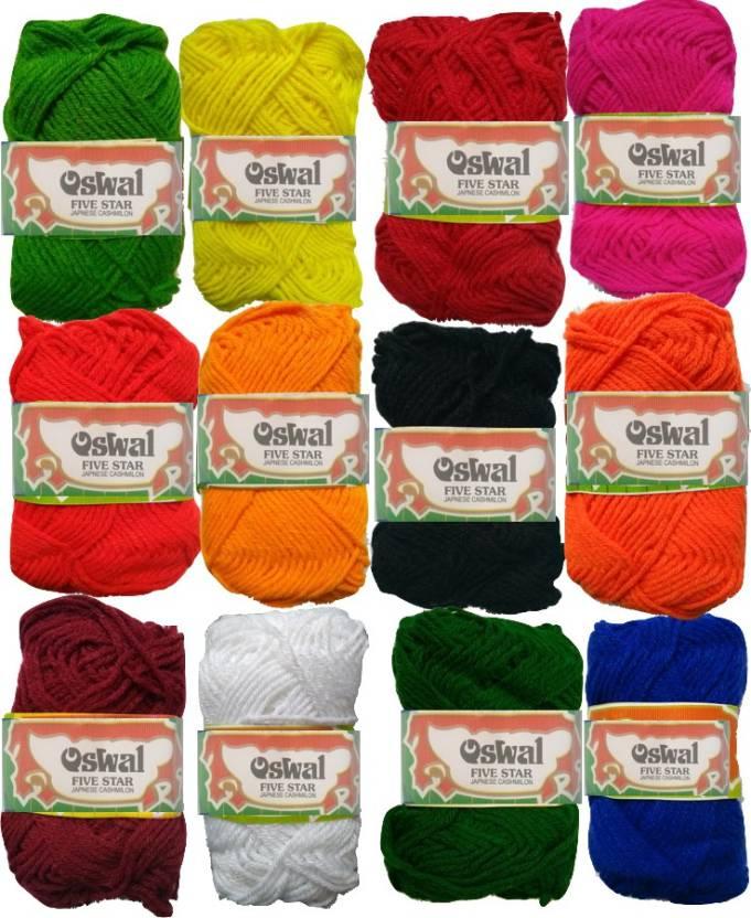 Oswal Yardley Hand Knitting Art Craft Soft Fingering Crochet Hook