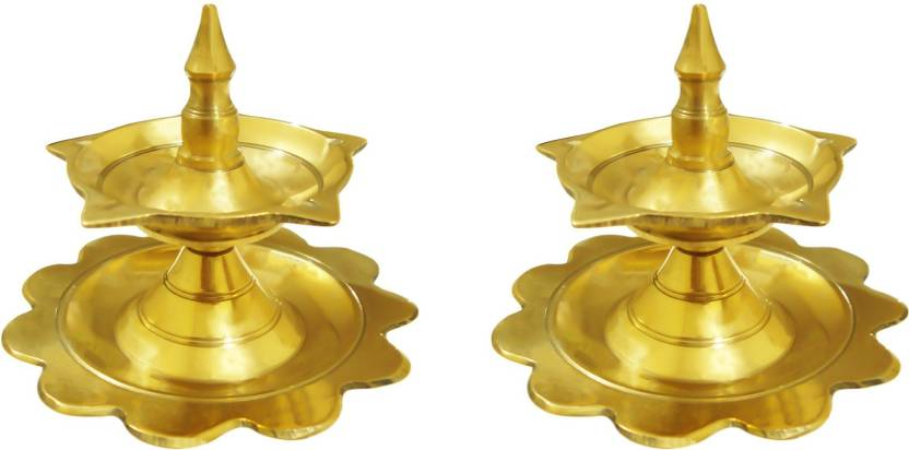 LotusFeet Spirituality Traditional Kerala Brass Deepam/Puja