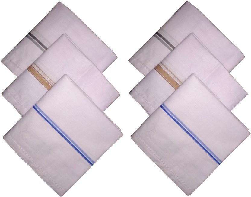 6 PCS PURE SOFT COTTON PLAIN HANKIES HANKERCHIEF WHITE COTTON HANKIES