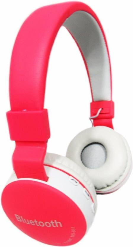 5b13e0f381b Royal Mobiles MS-881A Bluetooth Headset with Mic (Red, Over the Ear)