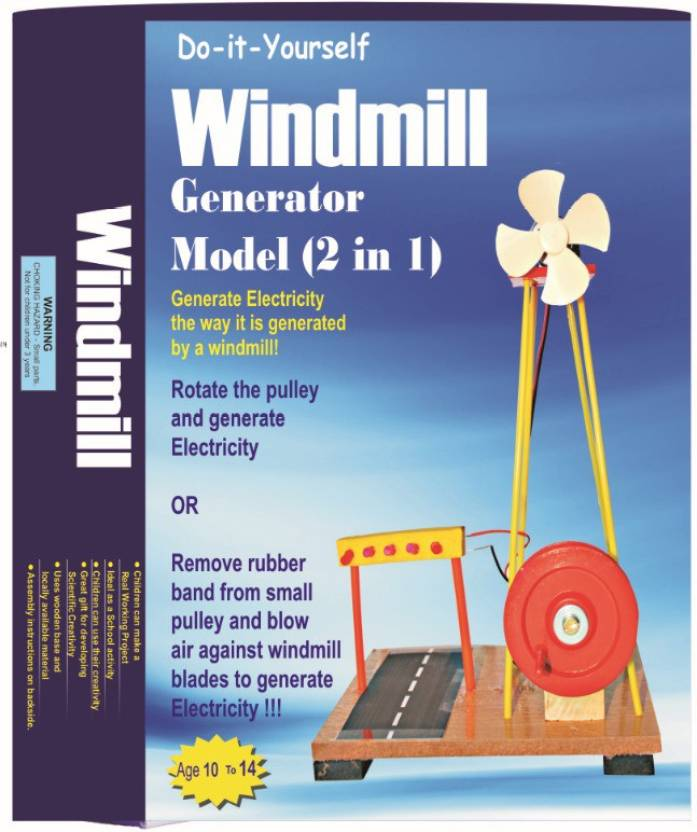 StepsToDo Electricity from Flowing Air  Windmill Making Kit