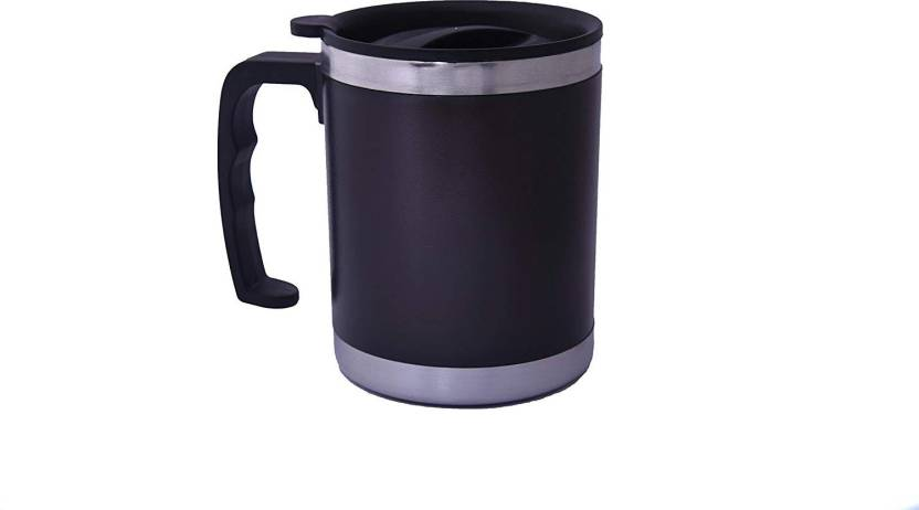 2bbb61d8149 LIFEMUSIC TEA/COFFEE & HOT DRINK MUG SMART Attractive Design Double Wall  Plastic with Stainless Steel Inner Tea,Coffee,Milk/Cup, Medium(multicolor)With  Lid ...