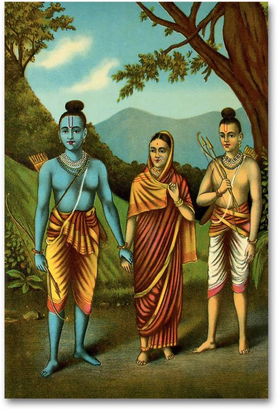 Diwali Poster - A Scene Of Ramayana - HD Quality Poster  Paper Print