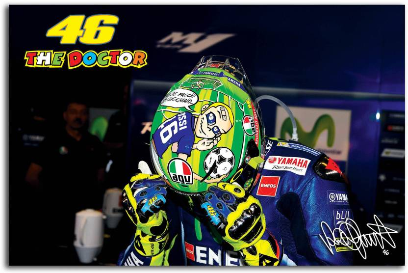 Moto Gp Wall Poster Valentino Rossi The Doctor Ready