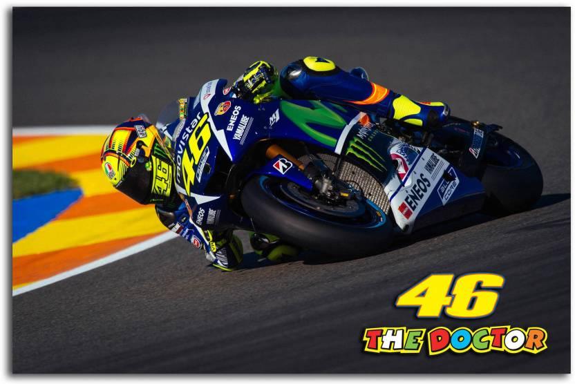 Moto GP Wall Poster - Valentino Rossi - The Doctor - Movistar Yamaha - Moto  GP 44524276e7a