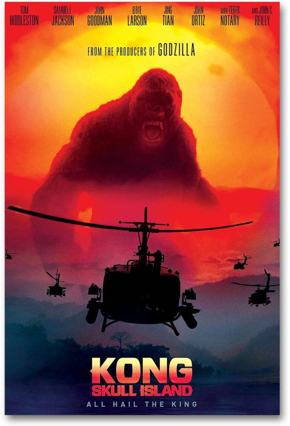 separation shoes 83c19 18c45 Hollywood Movie Wall Poster - Kong  Skull Island - HD Quality Poster. Paper  Print (18 inch X 12 inch, Rolled)
