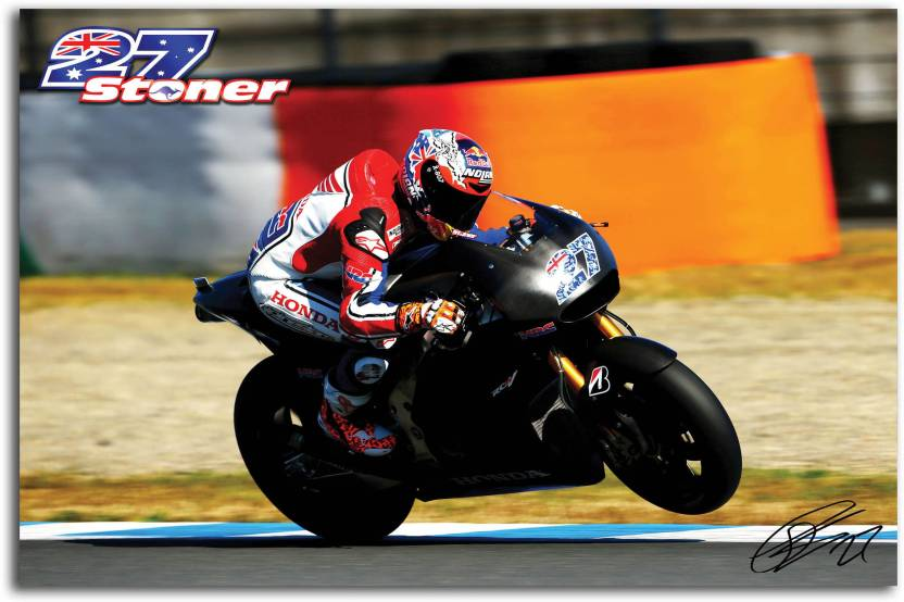 Moto Gp Wall Poster Casey Stoner Stoner Bike No27 On Racing