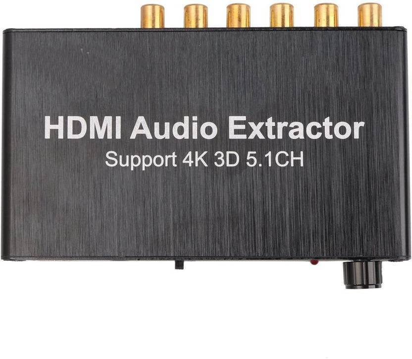 TechGear HDMI Audio Extractor Separator 5 1CH 4KX2K Decoding