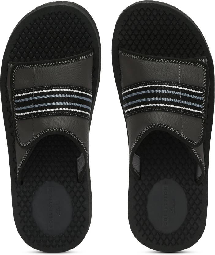 2d0020315a73 Clarks Slides - Buy Black Combi Color Clarks Slides Online at Best Price - Shop  Online for Footwears in India