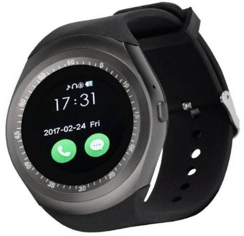 642b7e471 CALLIE black Y1 digital smart watch all features in device z black  Smartwatch (Black Strap free)