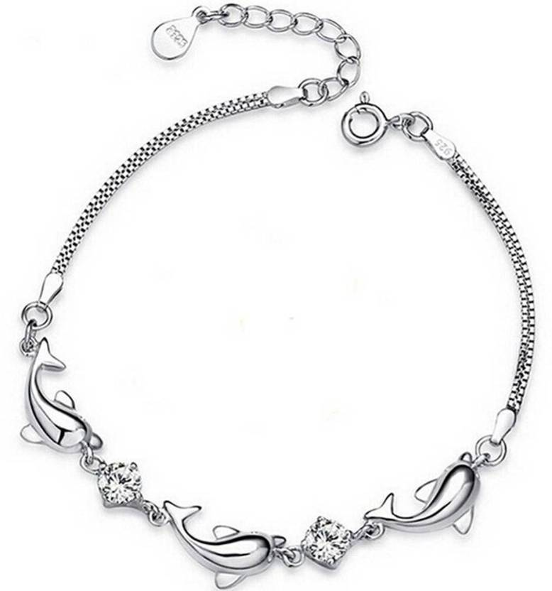 a1d20c44f MYKI Sterling Silver Swarovski Crystal Gold-plated Bracelet Price in India  - Buy MYKI Sterling Silver Swarovski Crystal Gold-plated Bracelet Online at  Best ...