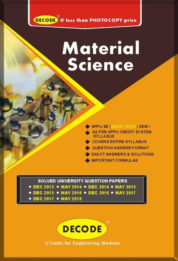 DECODE-Material Science for SPPU ( SE MECH/AUTO SEM-I COURSE-2015