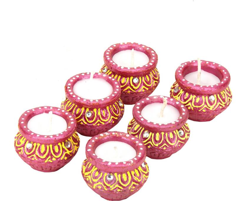 SkyAsia Terracotta Table Diya Set
