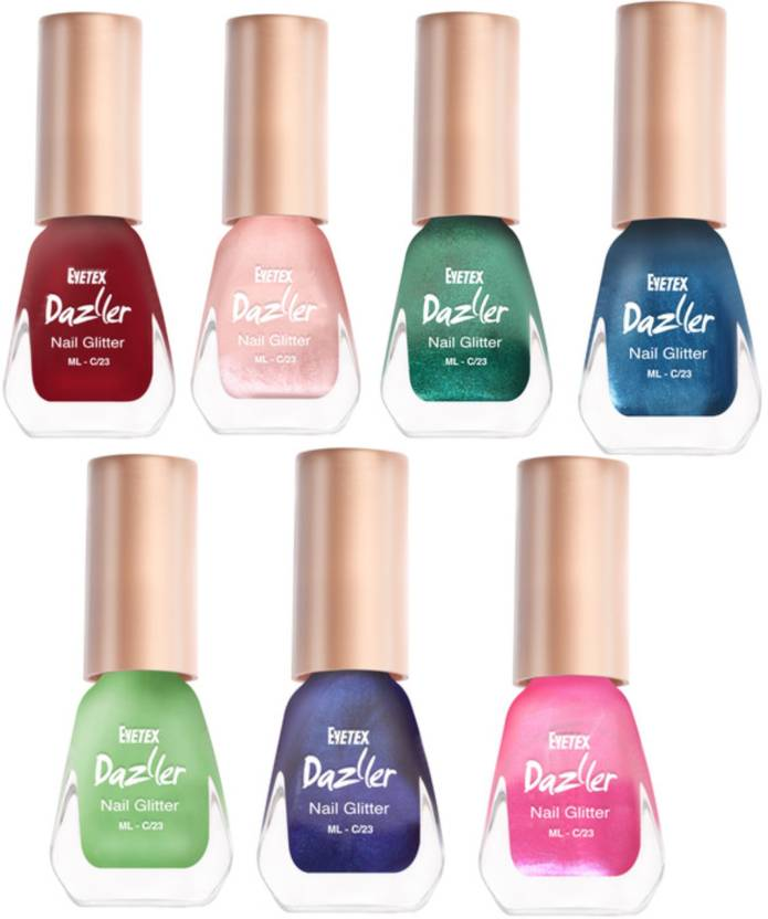 Eyetex Dazller Nail Polish Natural Ingredients Red, Pink, Blue ...