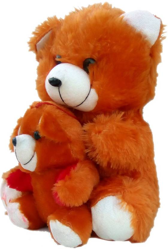 15d812b5593c andy gifts Soft Brown colour teddy bear-with baby teddy bear-35cm - 35 cm  (Brown)