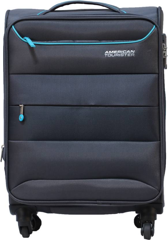 16a6480c5 American Tourister Atlantis Spinner Soft Trolley 69 cm (Charcoal)  Expandable Check-in Luggage - 28 inch (Black)