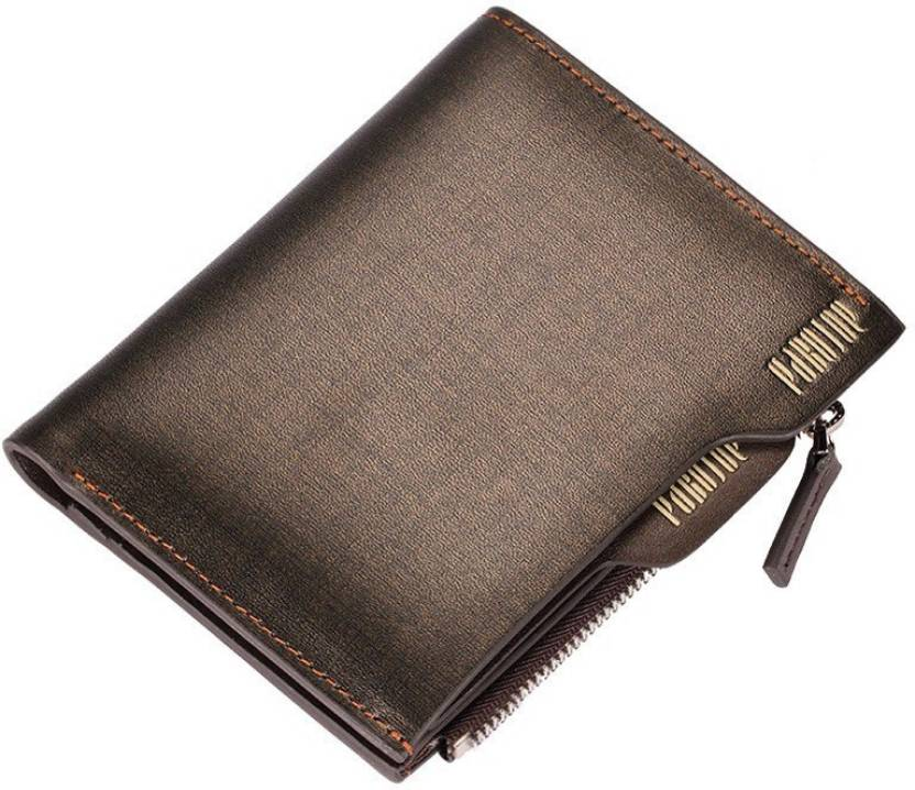 bb621d6c02b34 Pabojoe Men Casual Brown Genuine Leather Wallet Brown-Vertical ...