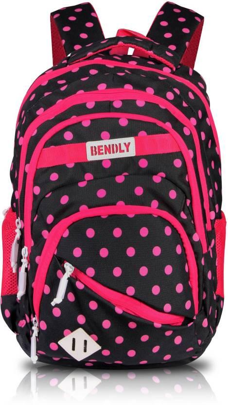 c64450ee2 Bendly School Bag - Polka Hype (Black-Pink) 30 Backpack Black ...