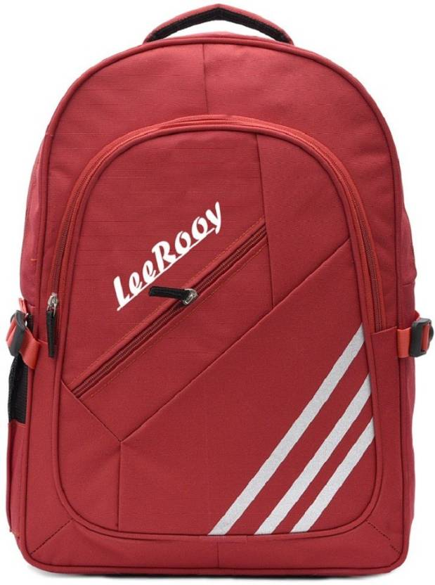 c329ba25de LeeRooy MN Nylon 23 Ltr Red College Bag Backpack For Girls Backpack (Red